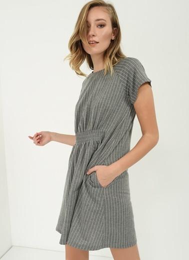 Çizgili Elbise-People By Fabrika